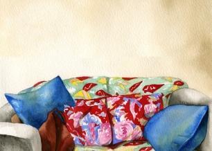 AlexandraCompain-Tissier - série Anouck pour Dingdingdong (canapé) - 9/20 - 2013 - tirage sur papier Hahnemühle - 36 x 27,5 - COM_16_065