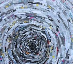 Eric Bossard - Artivisme - 2014 - 80 x 80 cm - Collage sur toile - BOS_17_070 (EN PRET)