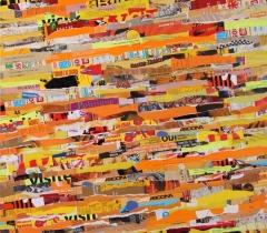 Eric Bossard - Propriété d'usage - 2013 - 80 x 80 cm - Collage sur toile - BOS_17_071 (EN PRET)