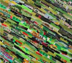 Eric Bossard - Négawatt - 2013 - 80 x 80 cm - Collage sur toile - BOS_17_072 (EN PRET)