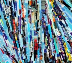 Eric Bossard - Topten - 2012 - 60 x 160 cm - Collage sur toile - BOS_17_073 (EN PRET)